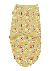 Summer Infant Swaddleme Cotton Original Swaddle, Fox & Friends, Small/Medium, 5-10 Months, Beige/Orange