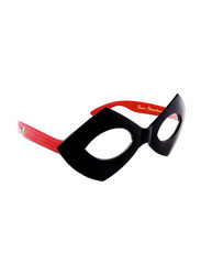 Sun Staches Officially Licensed Robin Mask Sunglasses for Kids, Black/Red