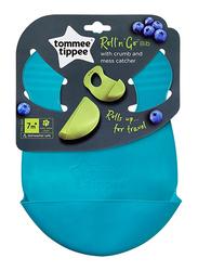 Tommee Tippee Roll N Go Bib Unisex, 2-Pieces, Blue