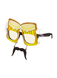 Sun Staches Beer Glass Sunglasses for Kids, Yellow/Black