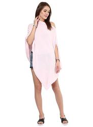 Pluchi Rosette Maternity Poncho, Pink