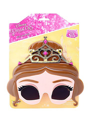 Sun Staches Officially Licensed Princess Belle Sunglasses for Kids, Brown/Black/Beige