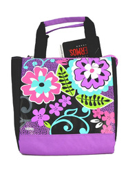 Thermos Lunch Kit, Black Floral, Black