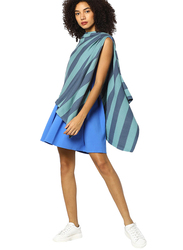 Pluchi Sarah Maternity Poncho, Queens Blue/Summer Blue