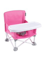 Summer Infant Pop 'N Sit Portable Booster Seat, Pink