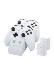 Venom White Edition Charge Stand with X2 Battery Pack for Xbox One, White