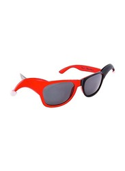 Sun Staches Officially Licensed Harley Quinn Small Dark Lens Sunglasses for Kids/Adults, Red/Grey