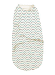 Summer Infant Swaddleme Cotton Original Swaddle, Teal Chevron, Small/Medium, 5-10 Months, Beige/Green/Grey