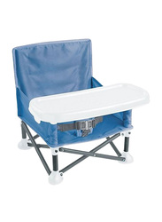 Summer Infant Pop 'N Sit Portable Booster Seat, Dusty Blue