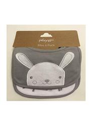 Playgro Bunny Baby Bibs, Grey/White