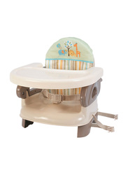 Summer Infant Deluxe Safari Stripe Comfort Folding Booster Seat, Beige/Brown