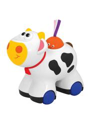 Kiddieland Push N Go Moo Moo Cow, Multicolour
