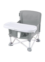 Summer Infant Pop 'N Sit Portable Booster Seat, Grey