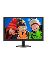 Philips 24 Inch Full HD LED Monitor with Smart Control Lite, 243V5QHABA, Black