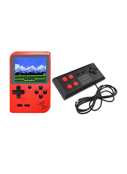 400 Classic Games Retro Handheld Console with Machine Wired Gamepad, Red