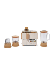 Mebashi 4-In-1 Juicer and Blender, 500W, TS-JB176P, Brown/Pink