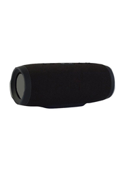 Charge 3 Portable Bluetooth Speaker with Built-In Power Bank, Black