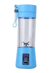 Everrich Juicer Cup Portable Electric Blender, TYW-9, Blue/Clear