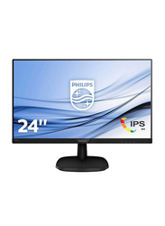 Philips 24 Inch Full HD IPS LED Edge-to-Edge Monitor with Built in Speakers, 243V7QJAB, Black