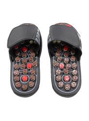 Massage Slippers, 42-43 cm, Black/Brown