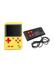 Machine Wired Gamepad Retro Handheld Console, with 400 Classic Games, Yellow/Black