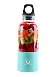 500ml Juice Cup Portable USB Rechargeable Juicer Blender, 489174964M, Blue/Clear