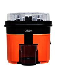 Clikon 1L Hand Press Juice Extractor, 90W, CK2258, Orange/Black/Clear
