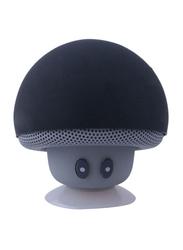 Mini Mushroom Portable Bluetooth Wireless Speaker with Mic, Grey/Black
