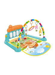 2 In 1 Baby Kick and Play Piano Gym Mat with Rattles