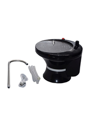 EzzySo Rechargeable Electric Water Pump Dispenser, S80-CSP, Black/Silver