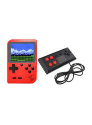 400 Classic Games Retro Handheld Console with Wired Gamepad, Red
