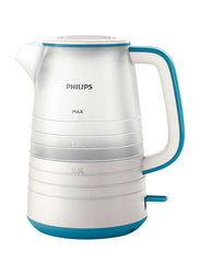 Philips 1.5L Daily Collection Electric Kettle, 2200W, HD9334/12, White/Blue
