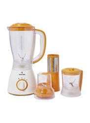 Mebashi 4-In-1 1.5L Blender, 350W, ME-BL1002OR, Orange/White/Clear
