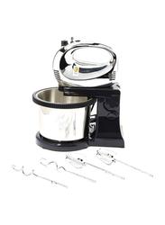 Saachi Hand Mixer with Bowl, 200W, NL-HM-4157CB-BK, Black/Silver