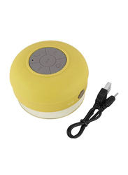 Waterproof Portable Wireless Bluetooth Shower Speaker, Yellow