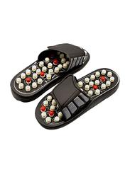 Acupressure Foot Massage Slippers, 45cm, Black/White