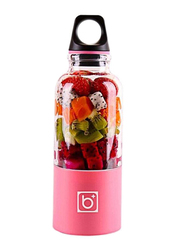 500ml Juice Cup Portable USB Rechargeable Juicer Blender, 489174966M, Pink/Clear