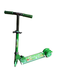 3 Wheel Folding and Adjustable Kick Scooter, Green, Ages 3+
