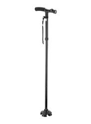 Adjustable Smart Walking Cane with LED Light, Black