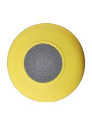 Waterproof Portable Bluetooth Speaker, Yellow/Grey
