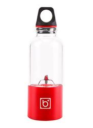 500ml Portable Fruit Juice Blender, 438829_3, Red/Black/Clear