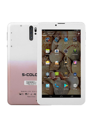 S-Color U703 16GB White/Gold 7-inch Tablet, 2GB RAM, Dual Sim, 4G LTE