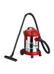 Saachi Wet & Dry Vacuum Cleaner, 1380W, NL-VC-1105, Silver/Red/Black