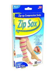 Zip Sox Zip-Up Compression Socks, 80.58036440.17, Beige