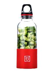 0.5L Portable USB Charging Juicer, JC0009, Red/Clear/Black