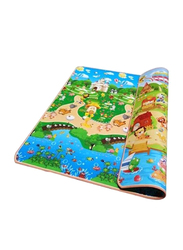 Play Mat Floor Activity Happy Farm Rug Child Crawling Carpet, Multicolor