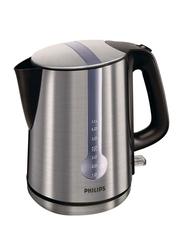 Philips 1.7L Electric Kettle, 2400W, HD4670/20, Silver/Black