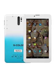 S-Color U703 16GB White/Blue 7-inch Tablet, 2GB RAM, Dual Sim, 4G LTE
