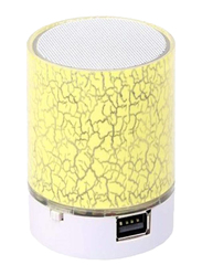 LED Mini Portable Bluetooth Speaker, Yellow