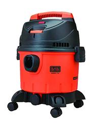 Black+Decker Wet and Dry Tank Drum Vacuum Cleaner, 15L WDBD15-B5, Orange/Black